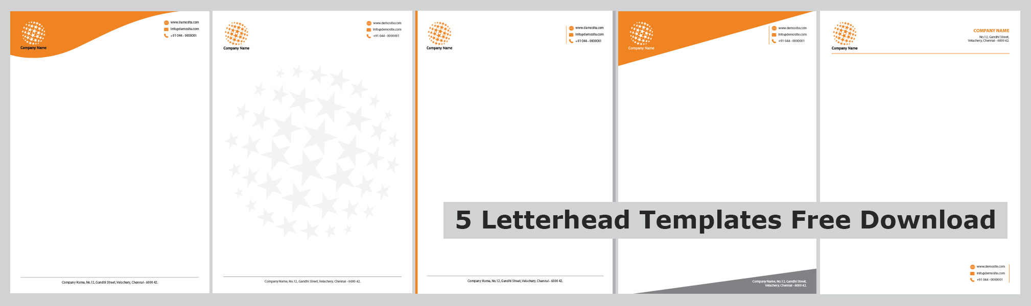Letterhead Printing Templates Free Download – Letterheads Templates Free Download